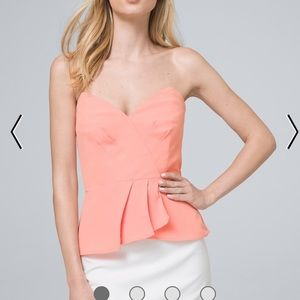 White House Black Market Pink Bustier Top